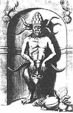 Д. Неврети. Демон. 1717. Гравюра резцом на меди. Нюрнберг